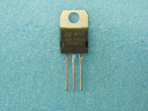 Lot x10 transistor P33N10 STP33N10 mosfet canal N 100v 60mR TO220 +CI46