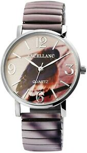 Excellanc-Damenuhr-Vogel-Zugband-Zugarmband-Quarz-Mode-Armbanduhr-X1700051001