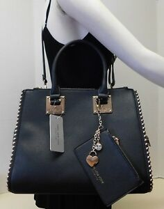 Details About Marc New York Signature Black Doctor Tote Shoulder Bag Handbag W Coin Purse 2pc