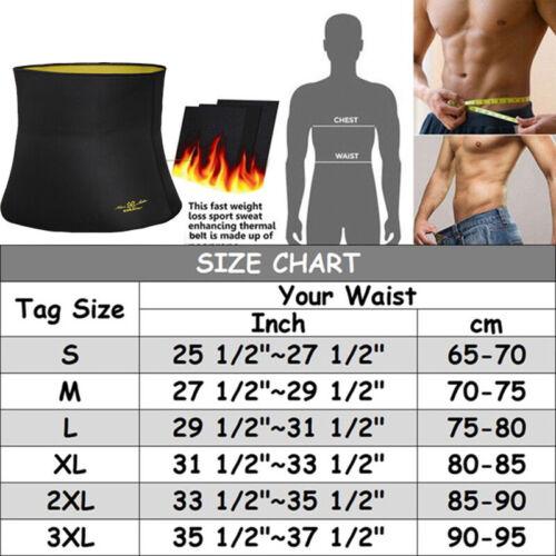 Sport Waist Trainer Weight Loss Vest Men Sweat Thermo Wrap Body Shaper Belt Gym