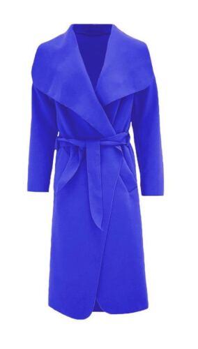 Women Waterfall Italian Duster Style long coat with French Belt Style