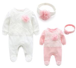 Newborn-girls-clothes-bodysuit-headband-wedding-party-jumpsuit-baby-shower-gift