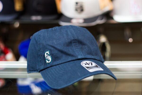 47 Brand Seattle Mariners Suspense Clean Up Dad Hat Strapback cap 484ee6744def
