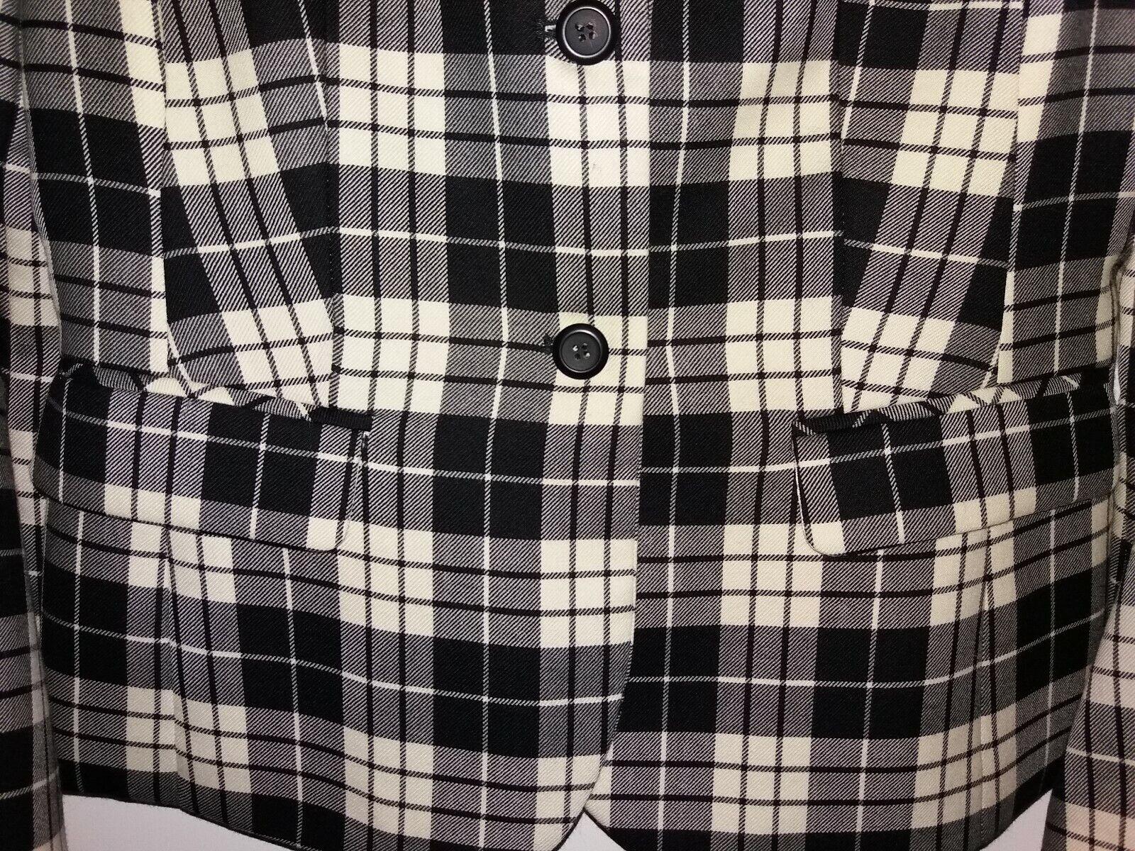 Pendleton Womens 4P Black and White Tartan Plaid … - image 6