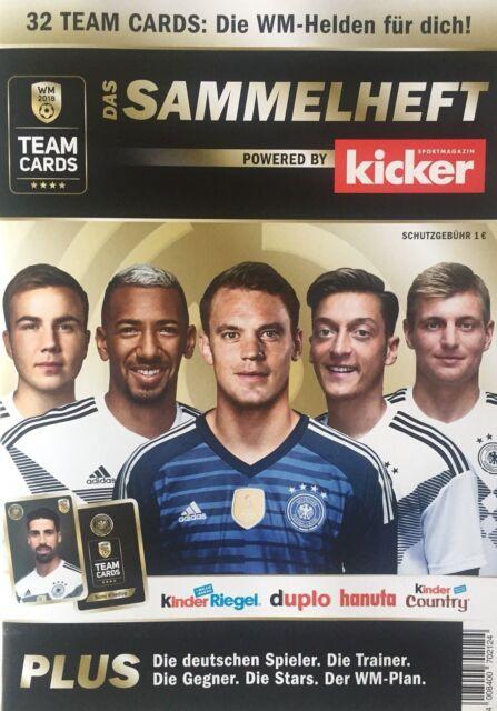Leeralbum + alle 32 Bilder # WM 2018 Team Cards # Hanuta, Duplo, Ferrero