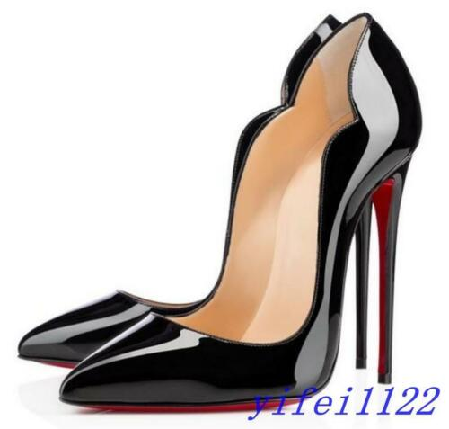 Chic Womens Super High Stiletto Heel Shoes Pumps Pointed Toe Slip On Casual Club