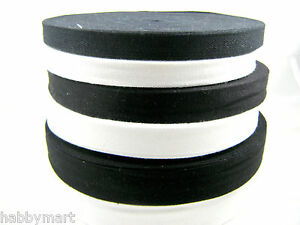 Black-or-White-100-Cotton-Bunting-Tape-13mm-19mm-25mm-Whole-Rolls-Cotton-Tape