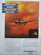 7/1995 PUB ROCKWELL COLLINS AVIONICS WEATHER RADAR DOPPLER DETECTION AIRLINER AD