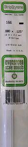 "Evergreen Strip Styrene 166 8 X .080 X.125"" Strips Longue DuréE De Vie"
