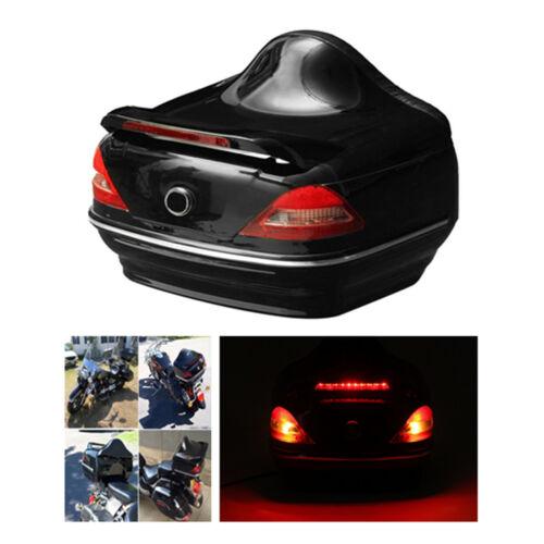 Motorcycle Trunk Box w//Taillight Stop Turn Light For  Suzuki Cruiser Honda