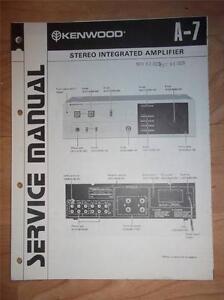 kenwood service manual a 7 integrated amplifier original repair ebay rh ebay com kenwood amp kac 7203 manual kenwood amp kac 7203 manual