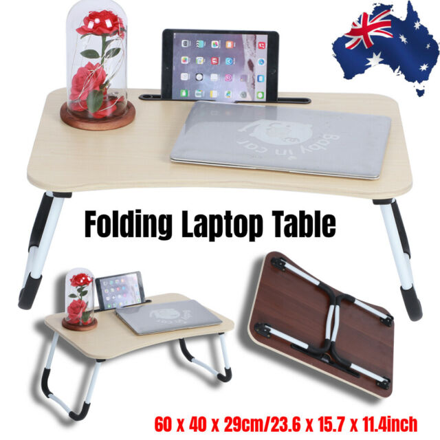 Multifunction Folding Laptop Bed Table Portable Standing Lap Desk Breakfast Tray