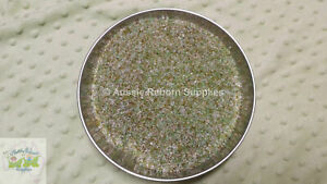 3kg Bag Coarse Tumbled Glass Granule Beads Weight Reborn Baby Doll Supplies