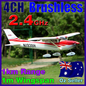 Brushless-LiPo-RC-4CH-Cessna-182-RTF-Electric-Plane-Airplane-2-4GHz-Red-4-Servo