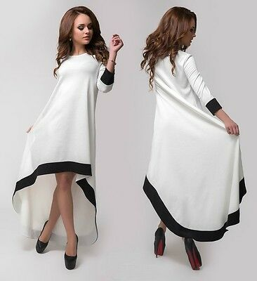 NEW Womens Ladies BOHO Sexy Asymmetrical Hem Dresses Maxi Cocktail Party Dress