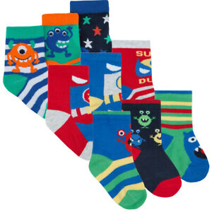 Baby Boys Socks Cotton Rich Novelty Design Socks Single Pair and 3 Pack Boat Car and Football Print