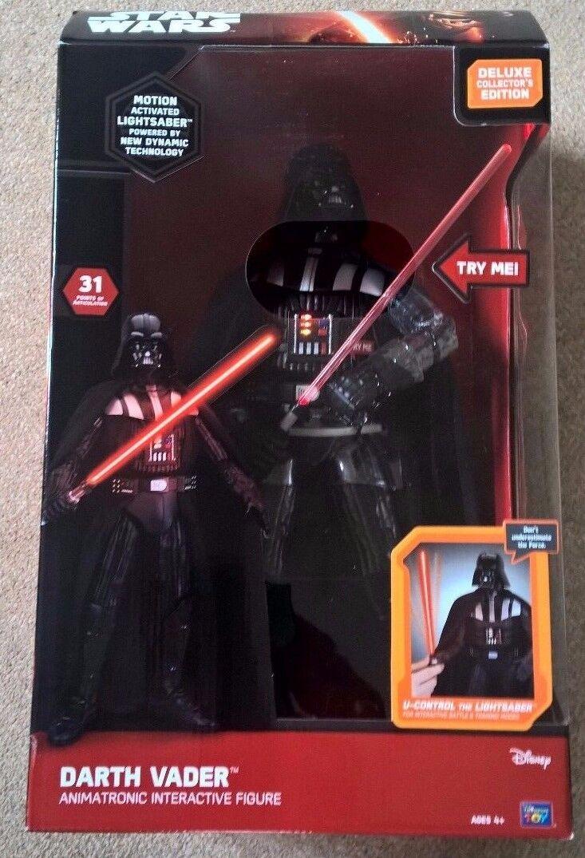 estrella guerras Darth Vader ANIMATRONIC INTERACTIVE cifra 18 cm cifra PARLANTE