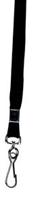 schwarz VPE=25 St. Umhängebänder mit Haken