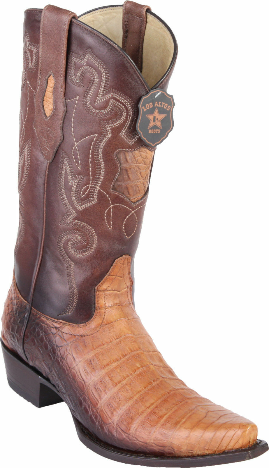 8cedf7c9deb4 Los Altos Genuine ORYX CROCODILE CAIMAN Belly Snip Toe Western Western  Western Cowboy Boot EE+ 8f7127