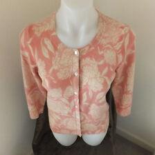 Talbots 100% Cashmere Cardigan Sweater PM Petite Medium Multi-Color 3/4 Sleeves