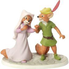 $ New PRECIOUS MOMENTS DISNEY Porcelain Figurine ROBIN HOOD MAID MARIAN FOX LOVE