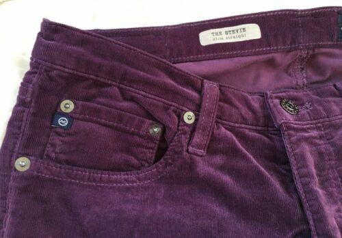 Adriano Goldschmied Women's Purple Corduroy Pants