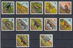 Guinea 717 - 28 A Lion Hippo Elephant Rhino Etc. (MNH)