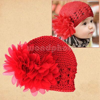 Cute Flower Baby Cap Kids Newborn Toddler Girl Knit Lovely Crochet Beanie Hat
