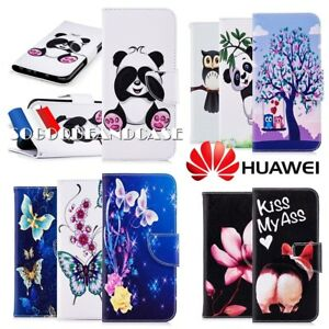 Etui-coque-housse-XXL-COLORS-PU-Leather-Wallet-case-cover-pour-HUAWEI-P20-lite
