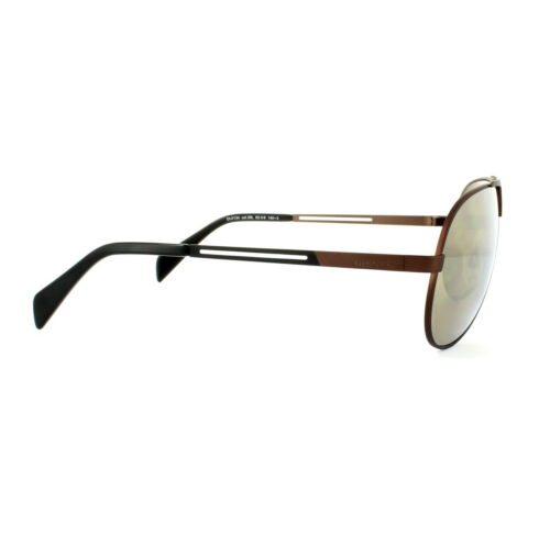 Diesel Sunglasses DL0134 36L Shiny Dark Bronze Roviex Brown Mirror