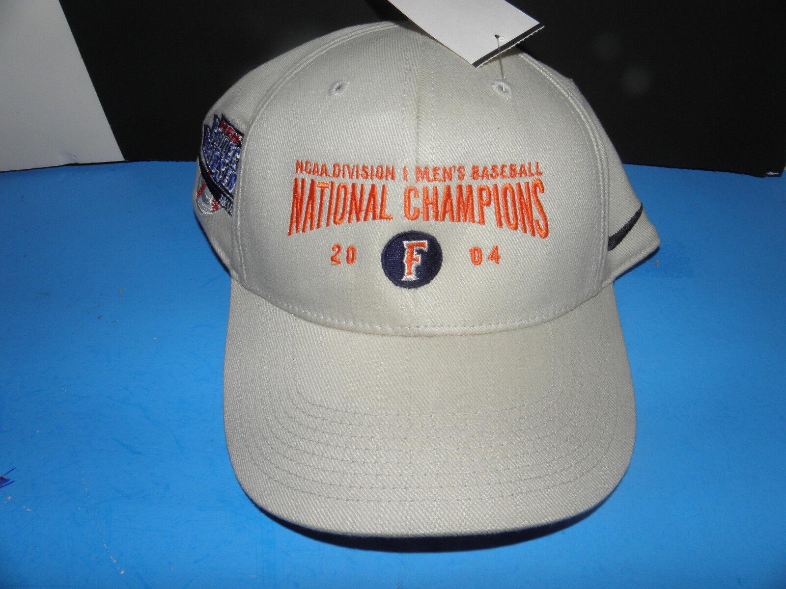 NCAA 2004 CAL STATE FULLERTON Natl. TITANS  Men's Baseball Natl. FULLERTON Champs Logo   Hat NWT 9f87d2