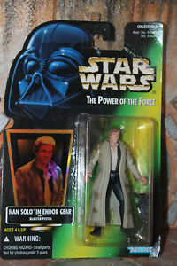 Han Solo Endor Gear Star Wars Power Of The Force 2 1997 box  blue pants