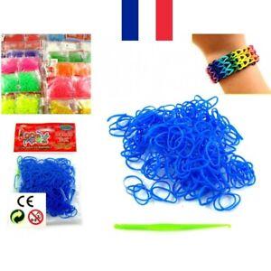 Recharge 300 élastiques + S Clip + Crochet pour Bracelet LOOM Bands 5 Couleurs