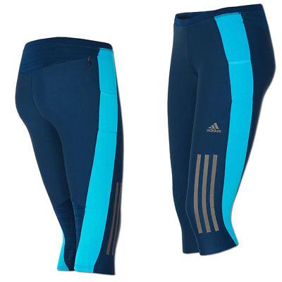 adidas Damen Hose Supernova 34 Tight Laufhose Running Climacool blau NEU | eBay