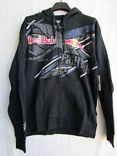 FOX racing X-fighters Red Bull Strike Thru Zip up fleece hoodie sweatshirt MD