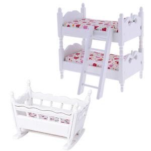 1 12 Puppenhaus Miniatur Möbel Kinder Etagenbett Babybett