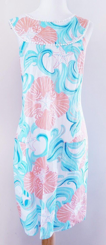 LILLY PULIZER Seashell Mod 70 S robe Größe M 8 10