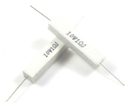 5PCS 10W Watt 1R 1OHM 5% Ceramic Cement Power Resistor