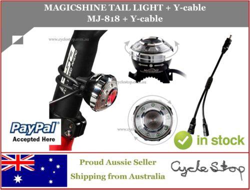 MJ818 REAR BIKE LIGHT 3W 85 Lumen MAGICSHINE MJ-818 Y Cable for MJ-880
