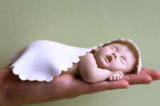 Baby Cake Topper with White Blanket by lil sculpture