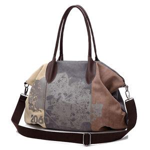 d882f2cb07 Image is loading Women-Casual-Vintage-Canvas-Big-Messenger-Shoulder-Bags-