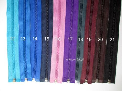 21 colores 3 x cremallera divisible 45cm-libre elección de color