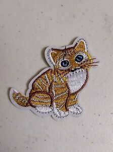 """BLACK CAT RING TAIL  4/"""" tall x 2 3//4/"""" across IRON ON PATCH APPLIQUE"""