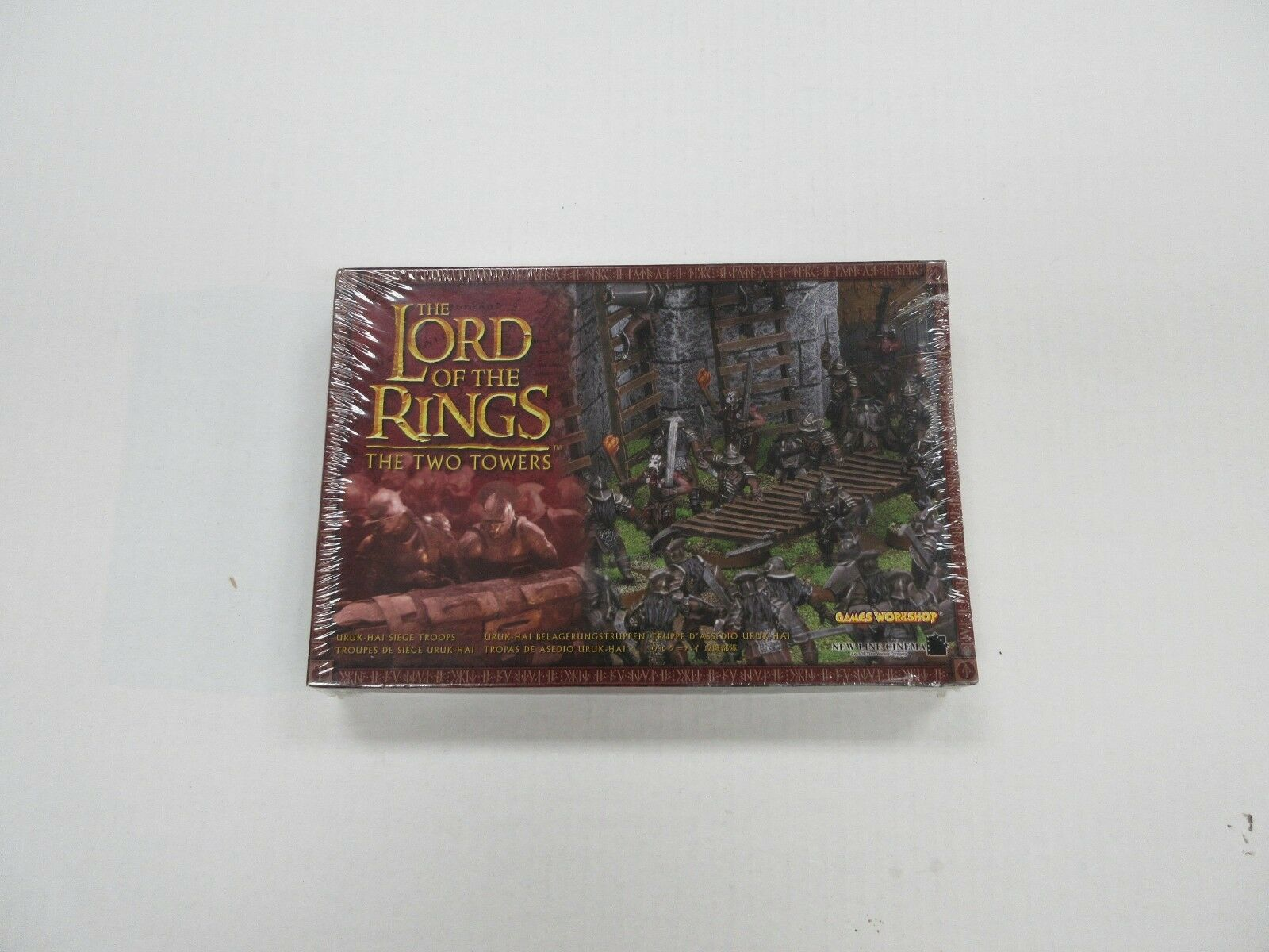 edición limitada 2002 Juegos workshop workshop workshop señor de los anillos dos torres MINIATURA FIGURA SET SEALED  ventas de salida