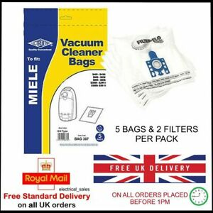 5 3D Type GN Bags Active Air Filter For MIELE C1 Classic Junior Powerline Vacuum