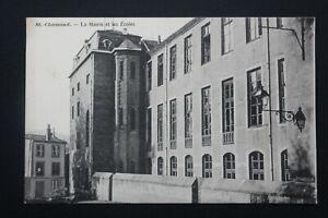 Postcard-Antique-st-Chamond-La-Town-Hall-And-All-Schools