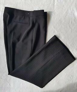 Hobbs-femme-noir-blanc-cintree-raye-pantalon-coupe-droite-Taille-UK-14