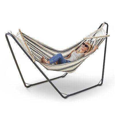 VonHaus Hammock with Frame Luxury Free Standing Swing Seat for Outdoor or Garden
