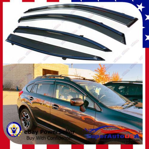 Fit Subaru Crosstrek XV 13-16 OE Style Window Vent Visors Sun Rain Deflectors