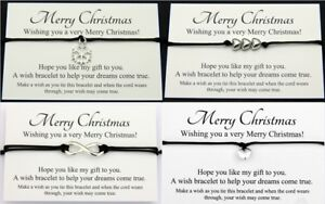 Wish Bracelet Friendship Mom Family *Xmas Christmas Wish Gift